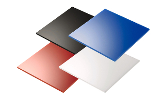 Opaque Acrylic Sheets - Black, White, Red or Blue
