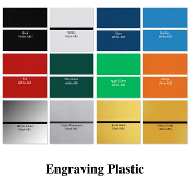 "Engraving Plastic ABS Sheets: 24"" x 48"" x 1/16"""